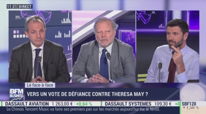 philipppe echade bfm clash theresa may