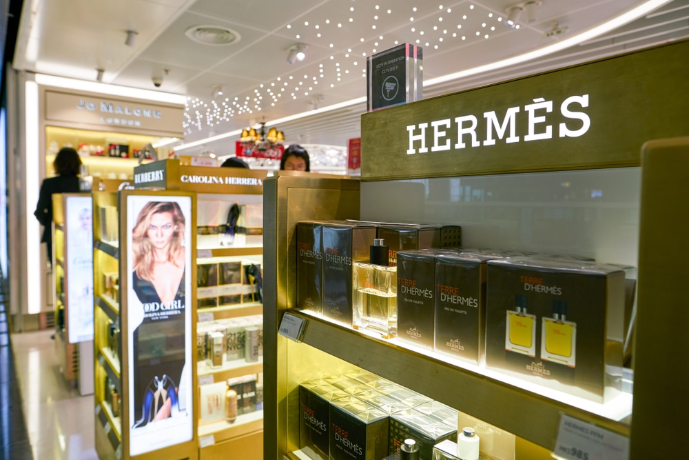 Hermes - luxe - aéroport